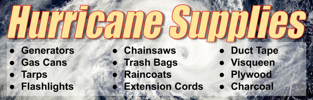 Hurricane Supplies